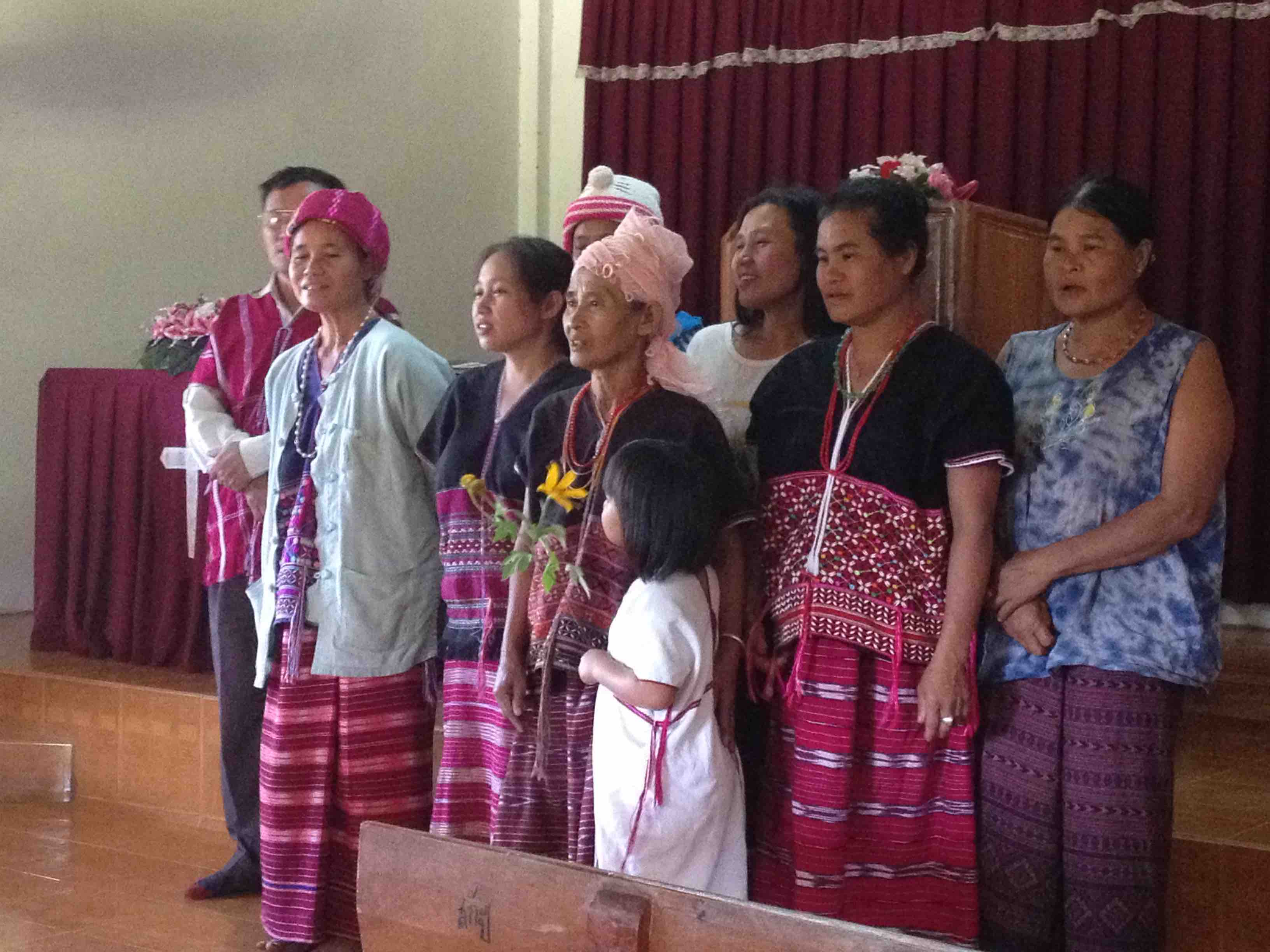 Karen people at church