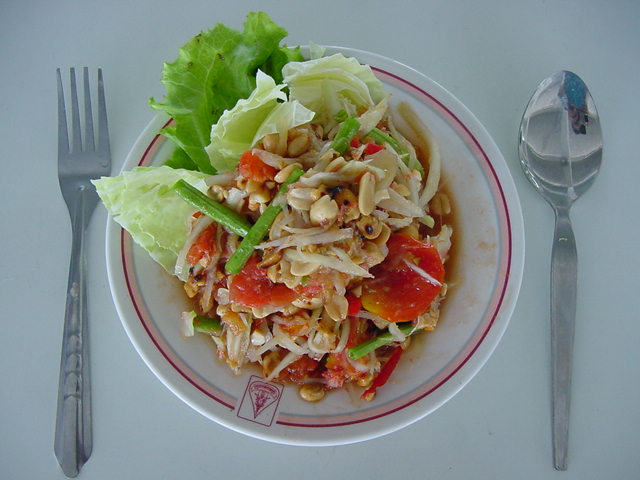 Favorite North Eastern dish: somtam